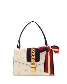 fa52bc4e9fc9b0 GUCCI SYLVIE SMALL BEE & STAR SHOULDER BAG. #gucci #bags #shoulder