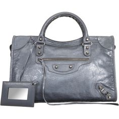 Balenciaga-Arena Classic City  Wrinkled lambskin bag with top zip in CVanna de Fucile (metallic grey) also in Anthracite Grey, Cyclamen Pink (hot pink), white, black
