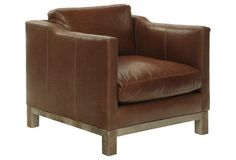 Cara Leather Chair, Saddle