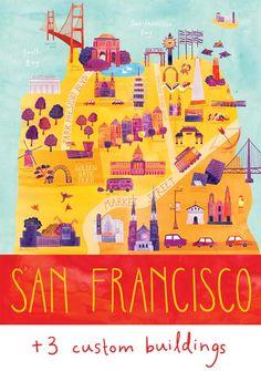 { Today I ♥ } Les jolies cartes coloréees de Marisa Seguin   www.decocrush.fr