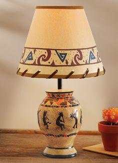 Southwestern Lamp Kokopelli Tabletop Lampssouthwest Decorsouthwestern Stylewestern