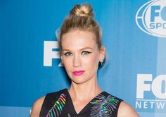 Best beauty looks of the week: January Jones' bright pink lipstick, fierce cat-eye and topknot