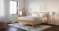 Buy Ethan Queen Size Wooden Bed Frame Online in Australia Wooden Bed Frames, Wooden Beds, Wooden King Size Bed, Cushions Online, Queen Size Bedding, King Beds, Bed Design, Bedroom, Australia
