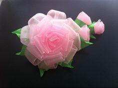 diy how to make satin ribbon flower, kanzashi tutorial Satin Ribbon Flowers, Cloth Flowers, Ribbon Art, Ribbon Crafts, Diy Flowers, Fabric Flowers, Kanzashi Tutorial, Ribbon Flower Tutorial, Paper Flowers Craft