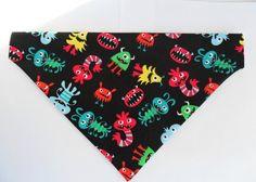Cute Black Dog Bandana  Monsters for your by InspiredByMocha