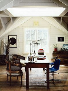 Eclectic office space.