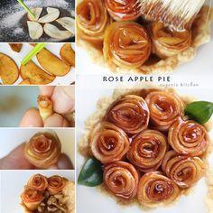 バラアップルパイがかわいい!とtwitterで話題!簡単レシピをご紹介。女子会やパーティーにおすすめです♪ バラの生ハムやアイスやポテトチップで作ったバラモチーフのレシピも♪