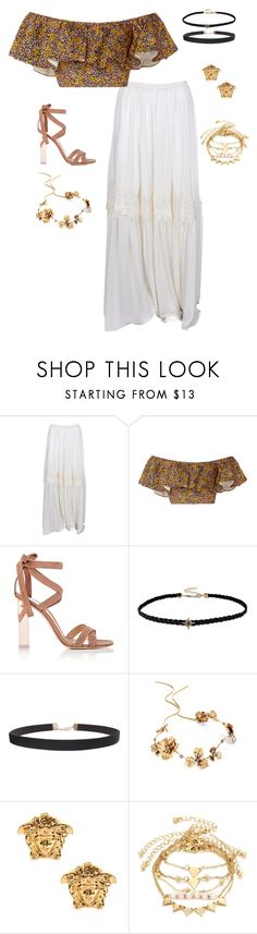 """save me (outfit 8)"" by kierstin518 on Polyvore featuring Chloé, Philosophy di Lorenzo Serafini, Gianvito Rossi, Humble Chic, Twigs & Honey and Versace"