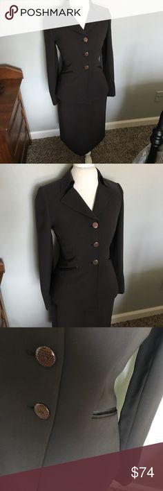 """Tahari Skirt Suit Daniele O by Tahari Lamevine Skirt Suit in size 4. Color is Mocha and features 3 button suit jacket and pencil skirt that are fully lined. Skirt measures 24.5"""" long and jacket is 25"""" long. Flawless condition! ......................... 🚫 - No Trades! 🚭 - listings from a non-smoking home 📬 - fast shipping 💌 - Feel free to make an offer!  💯 - items as described, feel free to ask questions  🔍 - search my closet for other great listings! 🛍 - Happy Shopping! Tahari Skirts…"""