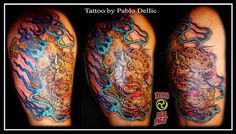 The meaning of the Japanese Foo Dog tattoo. Not every tattoo must have a meaning, but most tattoo designs do. Foo Dog Tattoo Meaning, Dog Tattoos, Sleeve Tattoos, Picture Tattoos, Tattoo Photos, Japanese Tattoo Meanings, Japanese Tattoos, Japanese Foo Dog, Insane Tattoos