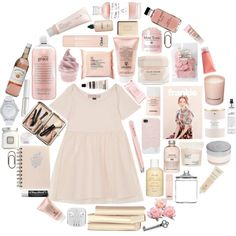 Pretty Pink by sophieinnes-1 on Polyvore featuring Topshop, MARC BY MARC JACOBS, Bobbi Brown Cosmetics, Chanel, Lord & Berry, philosophy, Sisley, The Body Shop, Mamonde and Aesop