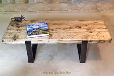 Please note this table is made to order, you will not receive the exact table in the photo due to the nature of wood, but I will create a piece as close as possible. ~~~Description~~~ Modern rustic meets industrial. A match made in heaven for those seeking a simple, elegant
