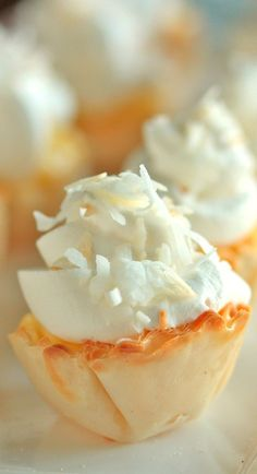 Mini Coconut Cream Pies