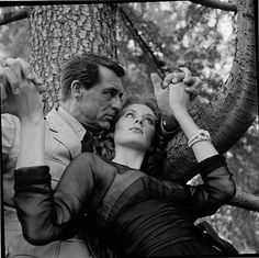 Cary Grant and Suzy Parker in a publicity still from 'Kiss Them for Me', June…