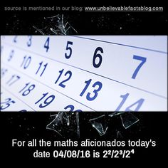 For all the maths aficionados today's date is Math Humor, Unbelievable Facts, Coincidences, Dating, Blog, Maths, Quotes, Blogging