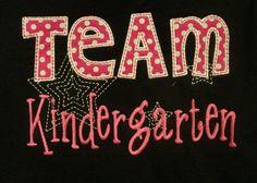 Items similar to Team Kindergarten School Shirt Teacher Shirt Student Shirt on Etsy Kindergarten Teacher Shirts, Kindergarten Rocks, Kindergarten Classroom, Kindergarten Crafts, Classroom Ideas, Teacher Wear, Teacher Style, Teacher Gifts, School Spirit Shirts