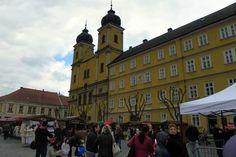 Am Friedensplatz von Trenčín