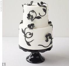Black and White Cake      Made in Heaven Cakes, MadeinHeavenCakes.com