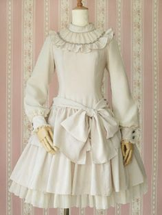 Victorian Maiden OP - Fairy Chiffon Long Sleeve Dress Ooh need this in black