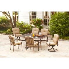 Hampton Bay Eastham Decorative 7-Piece Outdoor Patio Dining Set, Seats 6 Hampton Bay http://www.amazon.com/dp/B00OZY0LZ6/ref=cm_sw_r_pi_dp_fTOZub0CPQDY4