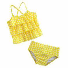Carter's Tiered Polka-Dot 2-pc. Tankini Swimsuit Set - Baby