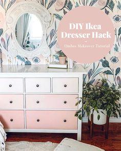 Ikea Dresser Makeover, Ikea Furniture Makeover, Ikea Malm Dresser, Ikea Furniture Hacks, Dresser As Nightstand, Hemnes Ikea Hack, Ikea Bedroom Dressers, Ikea Hacks, Painting Ikea Furniture