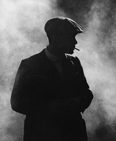 Cillian Murphy as Thomas Shelby in Peaky Blinders - smoke background