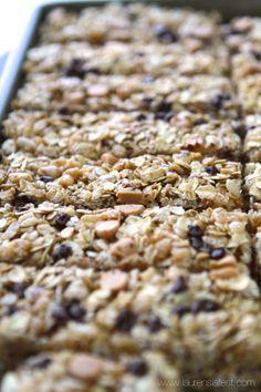 No-Bake Peanut Butter Chocolate Chip Granola Bars