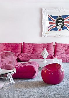 pink and pastille chair