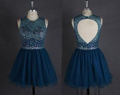 Navy Blue Homecoming Dress,Lace Homecoming Gown,Tulle Homecoming Gowns,Ball Gown Party Dress,Short Prom Dresses,Lace Formal Dress For Teens