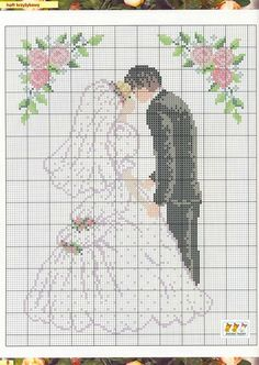 The bride and groom - #wedding #crosstitch pattern