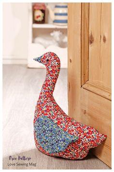 Animal Sewing Patterns, Bag Patterns To Sew, Sewing Patterns Free, Free Sewing, Fabric Patterns, Doorstop Pattern Free, Plush Pattern, Sewing Stuffed Animals, Stuffed Animal Patterns
