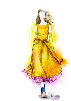 Rocha SS 2017 fashion illustration by Camilla Locatelli