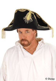 481fd85c Men's Captain Hector Barbossa Admiral Pirate Hat Pirate Hats, Hats For Men,  Pirates,