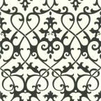 A gorgeous black and white damask wallpaper pattern with swirling trellis work, this designer choice is strikingly poised. Combining both a traditional style with a modern twist, this transitional wallpaper with a ironwork design, is perfect middle-g Demask Wallpaper, Trellis Wallpaper, Embossed Wallpaper, Geometric Wallpaper, Print Wallpaper, Pattern Wallpaper, Prepasted Wallpaper, Textured Wallpaper, Bathroom Wallpaper Diy