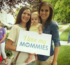 I love my mommies. I am so happy and lucky to have 2 moms in my life #samesexmarriage #lgbt #lesbian #gay #pride #rainbow #girllikesgirl #familyof3