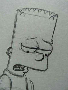 Matt Groening – Simpsons – Beard – Original drawing – Catawiki # art ideas – Informations About Matt Groening – Simpsons – Bart. Sad Drawings, Dark Art Drawings, Pencil Art Drawings, Art Drawings Sketches, Cartoon Drawings, Cartoon Art, Drawing Faces, Easy Love Drawings, Easy Disney Drawings
