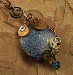Watch Component Copper Etched Metal Flower by ccjewelrydesign, $22.00