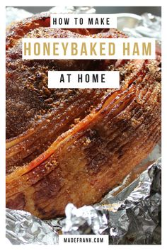 Homemade Copycat Honey Baked Ham - Ham - Ideas of Ham - I couldn't afford themso I made my own homemade copycat Honeybaked Ham. It's cheap easy and delicious. And you can do it in your crockpot too if you want! via Frank Pork Recipes, Cooking Recipes, Baked Ham Recipes, Honey Baked Ham Recipe Copycat, Amish Recipes, Dutch Recipes, Honey Baked Ham Bone Soup Recipe, Honey Bake Ham, Recipies