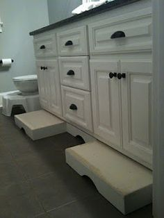 We NEED this! So tired of tripping over the bulky stools in the bathroom