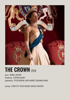 Series Movies, Tv Series, The Crown 2016, Imelda Staunton, Alternative Movie Posters, New Poster, Minimalist Poster, Classic Tv, Film Posters