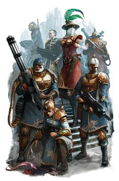 One could argue that They're best of the best (at least for mortals) of Navy or Rogue Traders crew, for me They're more like Imperium pimped out Navy :P Character Concept, Character Art, Concept Art, Character Creation, Warhammer 40k Art, Warhammer Fantasy, Steampunk, Rogue Traders, Sci Fi Characters