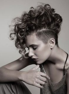 Punk Hairstyles for Curly Hair -