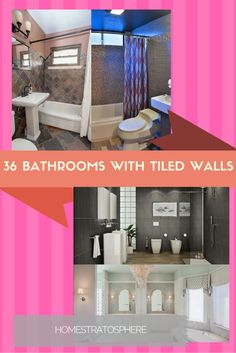 Looking to switch it up in your bathroom? Look in this gallery of 36 bathrooms with tiled walls, pay close attention to number 8!