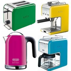 Small Appliances in Bright Colors | Colorful Kitchen Appliances to Brighten My Kitchen