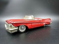 RARE BANDAI JAPAN TIN FRICTION 50'S CHRYSTLER IMPERIAL CONVERTIBLE EXCELLENT CAR $45.00Approx NOK374.91