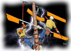 Free Lineman's Artwork Provided by The Lineman's Factory