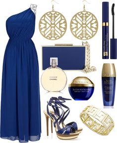 Greek Blue + Gold, created by jemevangelista on Polyvore