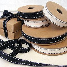 Black & white ribbons.