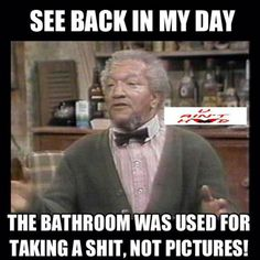Redd Foxx is probably one of the greatest comedians next to Richard Pryor in my book. Here's a few Sanford and Son memes to help you get though your day. Funny Shit, The Funny, Funny Jokes, Funny Stuff, Funny Things, Sarcastic Humor, Random Things, Random Stuff, Funny People